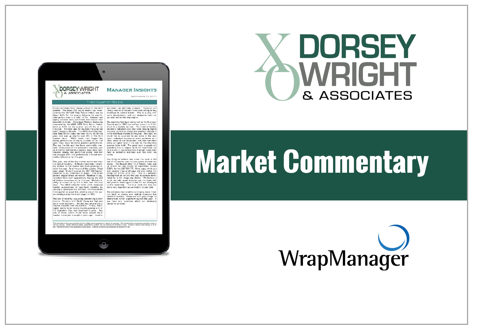 Dorsey Wright Evaluates Low Volatility, Global Investments