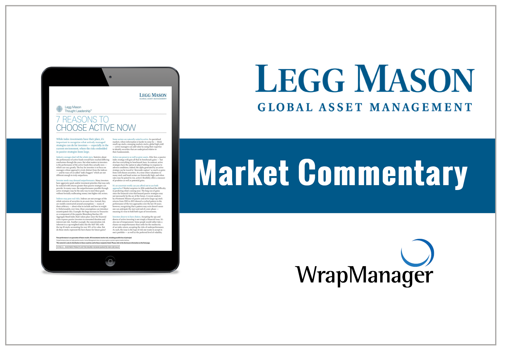 Legg Mason: 7 Reasons to Choose Active Management