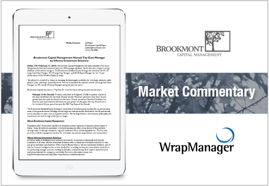Brookmont Capital Management Named Top Guns Manager by Informa Investment Solutions