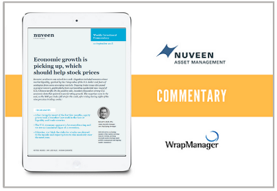 Nuveen Sees Economic Growth Picking Up, Believes It Should Help Stock Prices